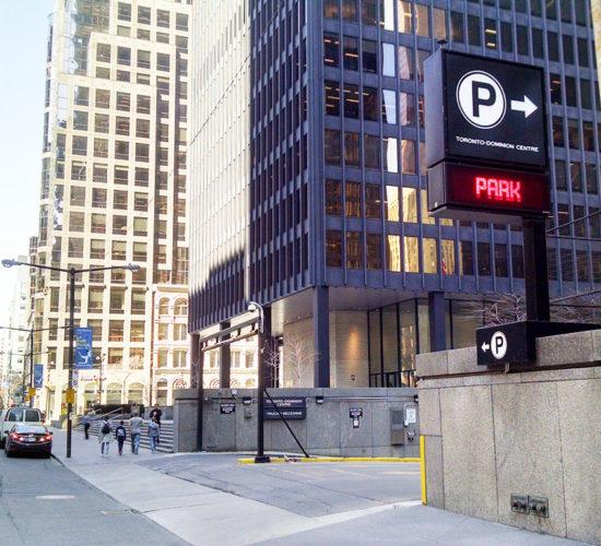 Toronto TD Centre Parking Garage Entrance
